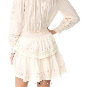 LoveShackFancy Dresses - LoveShackFancy Smocked Ruffle Minidress SzM